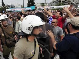 manifestatii in grecia