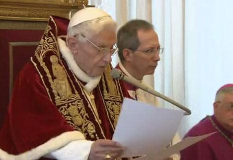Papa Benedict al XVI-lea, ultima audiență generală